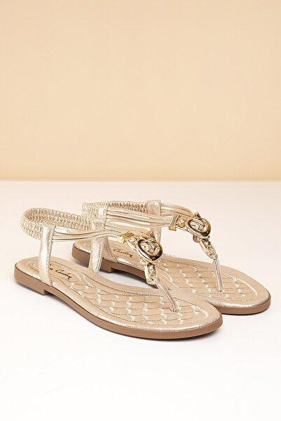 Pierre Cardin Kadın Altın Sandalet Pc-6531 - 3092-186
