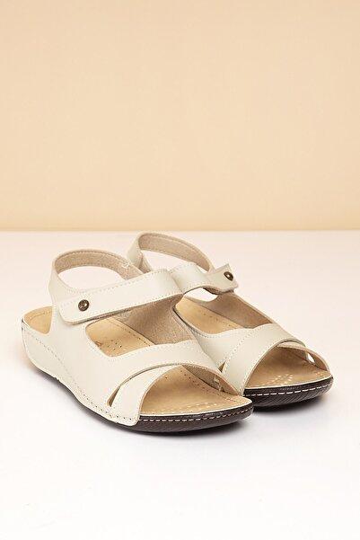 Pierre Cardin PC-1362 Krem Kadın Sandalet