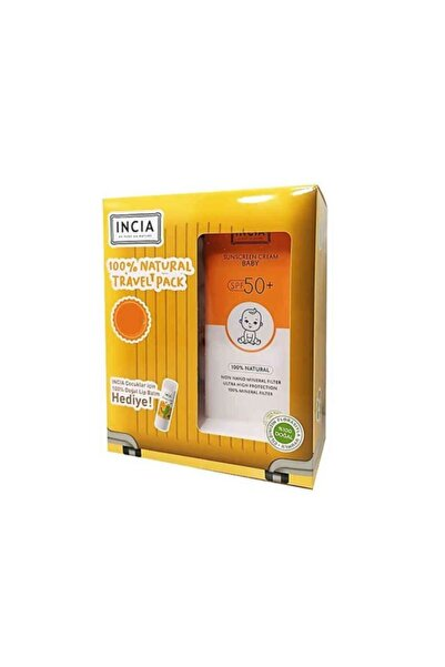 Incia Sunscreen Cream Baby Spf50+ 100ml Lip Balm Set
