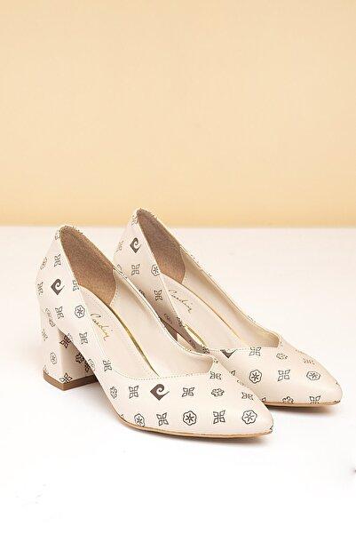 Pierre Cardin Kadın Bej Topuklu Ayakkabı Pc-50177