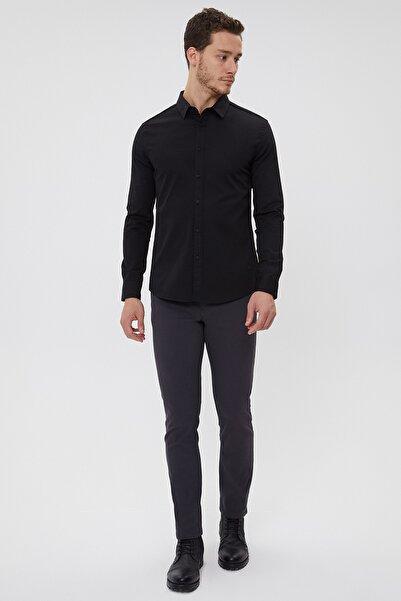 Lee Cooper 211 Lcm 241016 Düz Siyah Erkek Gömlek