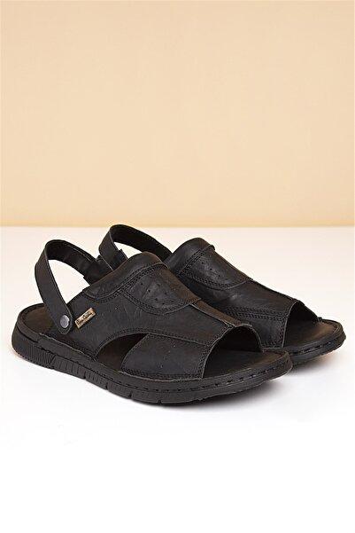 Pierre Cardin Erkek Siyah Sandalet
