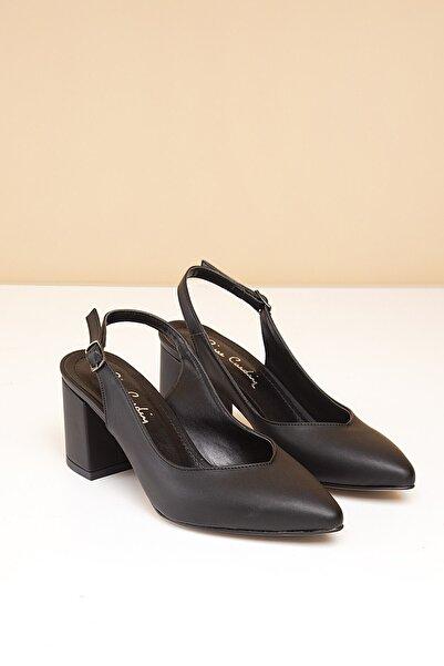 Pierre Cardin Kadın Siyah Topuklu Ayakkabı Pc-50173 - 3066-01