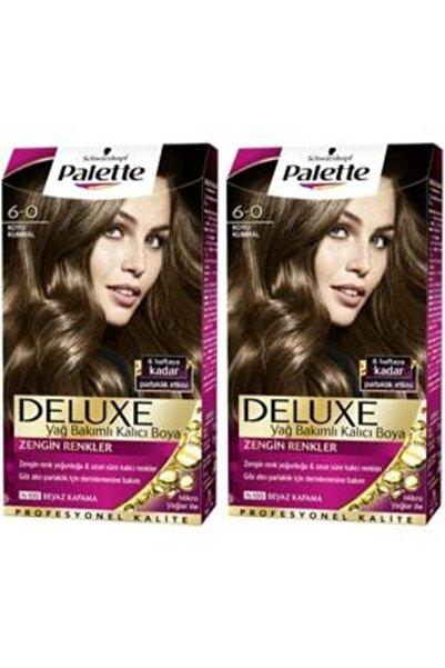 SCHWARZKOPF HAIR MASCARA Palette Deluxe 6-0 Koyu Kumral X 2 Saç Boyası 50 Ml