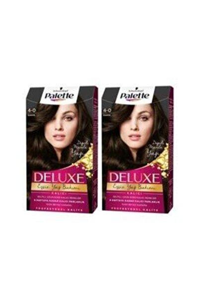SCHWARZKOPF HAIR MASCARA Palette Deluxe 4-0 Kahve X 2 Saç Boyası 50 Ml