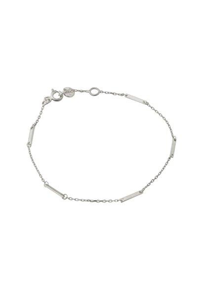 Gimora Kadın İnce Çubuklu Gümüş Bileklik