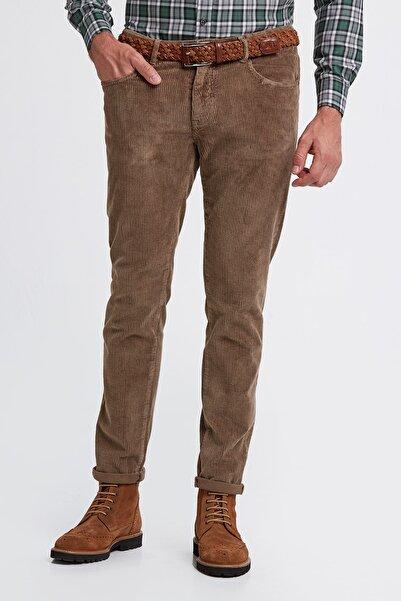 Hemington Erkek Tütün Rengi Slim Fit Kadife Pantolon