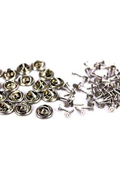 Ertürk Metal Aksesuar Rozet (kelebek Ve Çivi Takım ) Nikel Kaplama, #278n 100 Adet