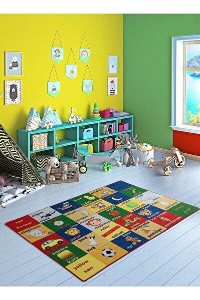 Confetti Objects 300x400 Mavi Bukle Çocuk Halısı