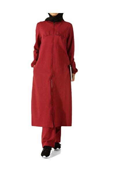 ALLDAY Kadın Kırmızı Fermuarlı Eşofman Takımı