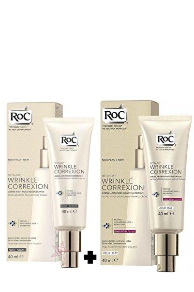 Roc Retin-ox Wrinkle Correxion Kırışıklık Giderici Ve Pürüzsüzleştirici Gündüz Ve Gece Kremi Seti