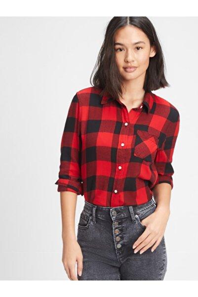GAP Kadın Kırmızı Ekose Gömlek