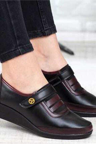 Ayzen Kadın Bordo Ortopedik Ayakkabı