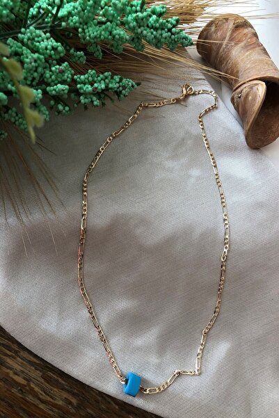 Chance Accessories Kadın Nostaljik Boncuklu Gold Kolye