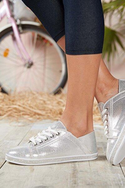 DARK SEER Kadın Gümüş Sneaker