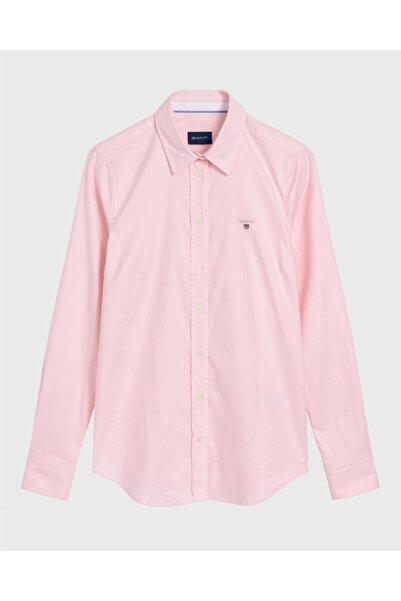 Gant Kadın Pembe Slim Fit Oxford Gömlek