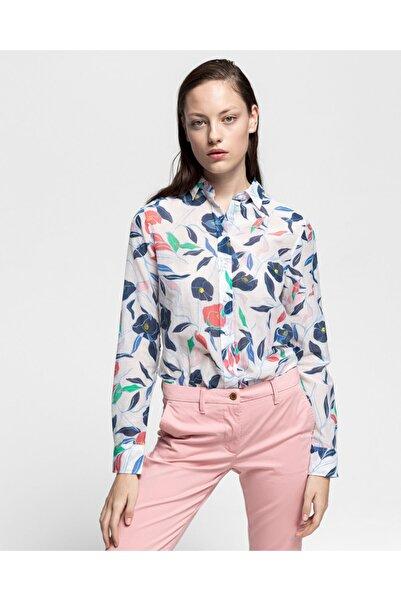 Gant Kadın Krem Rengi Ipek Gömlek