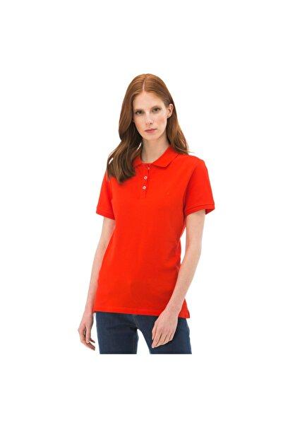 Nautica Kadın Kırmızı Kısa Kollu Polo T-shirt