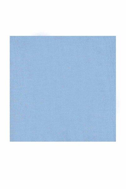 Kaşmir Kadın Bebe Mavi Dikişsiz Düz Yazma 90 cm 26