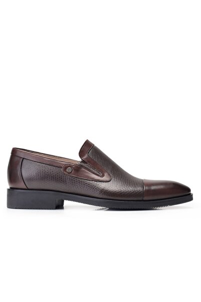 Nevzat Onay Hakiki Deri Kahverengi Klasik Loafer Erkek Ayakkabı -11852-