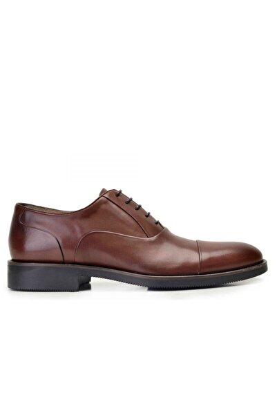 Nevzat Onay Hakiki Deri Kahverengi Günlük Bağcıklı Erkek Ayakkabı -8138-