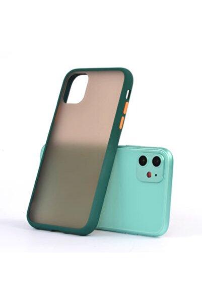 zore Apple Iphone 11 Renkli Kenar Mat Buzlu Arka Fri Silikon Kılıf