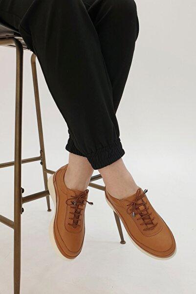 Marjin Sensiva Kadın Hakiki Deri Günlük Comfort AyakkabıTaba 3210264018