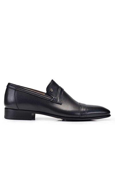 Nevzat Onay Erkek Siyah Kösele Tabanlı Hakiki Deri Klasik Kesim Ayakkabı