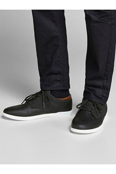 Jack & Jones Erkek Siyah Ayakkabı Jfwjamıe Pu Combo Anthracıte Noos