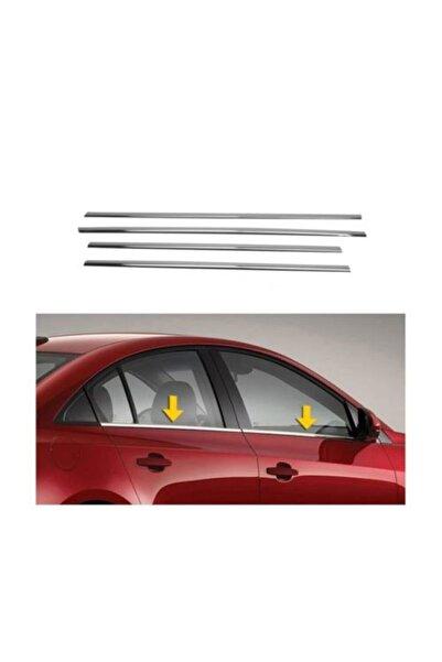 ASKROM Chevrolet Aveo Krom Cam Çıtası 4 Prç.p.çelik (2006-2011) Sd
