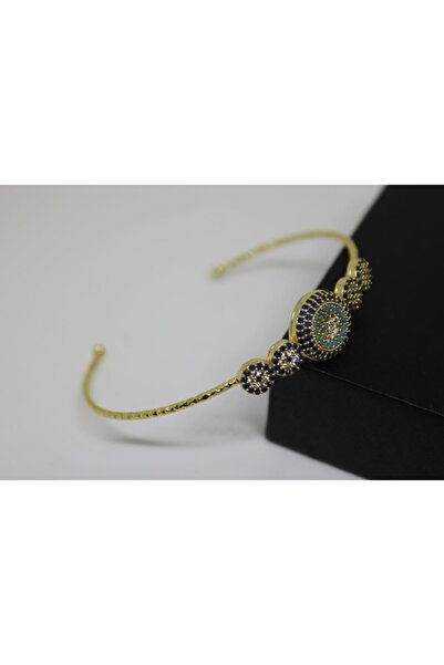 Accessories Zirkon Taşlı Paslanmaz Çelik Kadın Bileklik Gold