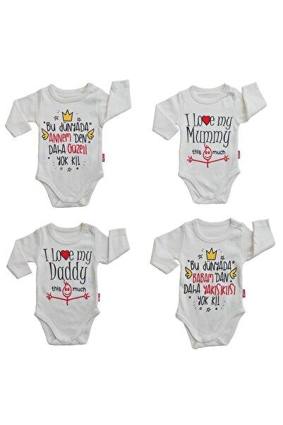 Lullaby Kız Ve Erkek Bebek Uzun Kollu Çıtçıtlı Badi Anne Baba Body