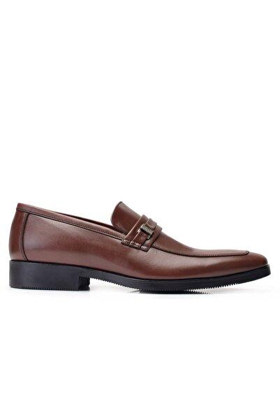 Nevzat Onay Hakiki Deri Kahverengi Klasik Loafer Erkek Ayakkabı -11848-