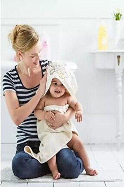 MOTHERCARE Kısayol - Ayıcıklı Nakışlı Bebek Havlusu