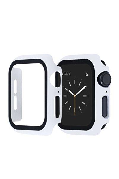 zore Apple Watch Seri 2 3 4 5 6 44mm Tam Kaplayan Kasa Korumalı Ekran Koruyucu Kırılmaz Cam