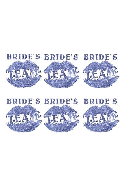 Kullan At Market Mavi Bride S Team Dudaklı Dövme 6lı