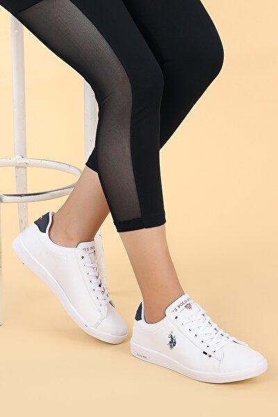 U.S. Polo Assn. Kadın Beyaz Franco Dhm Günlük Spor Ayakkabı