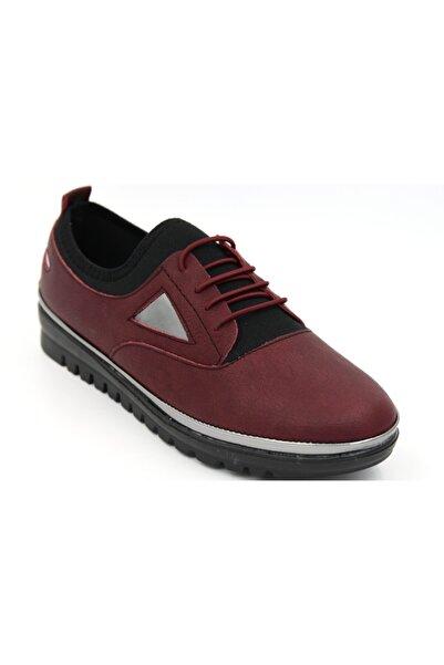 ACAR A8497 Kadın Bordo Günlük Ayakkabı