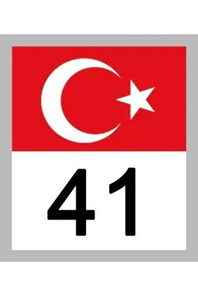 Apex 41 Kocaeli Türk Bayrağı Ve Plaka Kodu Ön Cam Sticker Yapıştırma