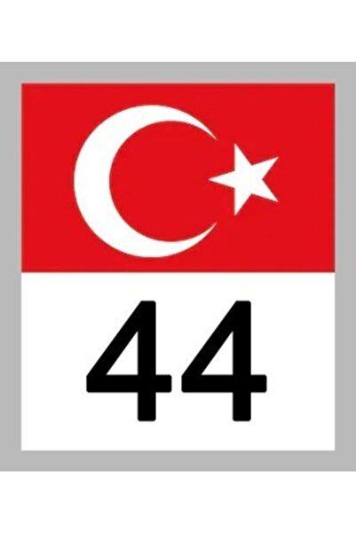 Apex 44 Malatya Türk Bayrağı Ve Plaka Kodu Ön Cam Sticker Yapıştırma