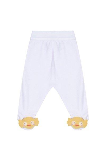 Y-London Caramell Unisex Bebek Patikli Polar Pantolon 0-6 Ay Apk4404