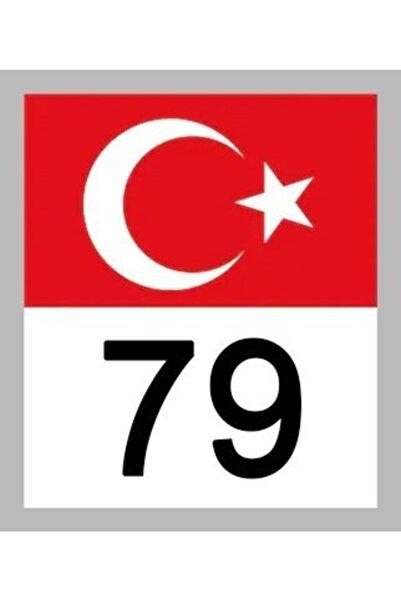 Apex 79 Kilis Türk Bayrağı Ve Plaka Kodu Ön Cam Sticker Yapıştırma