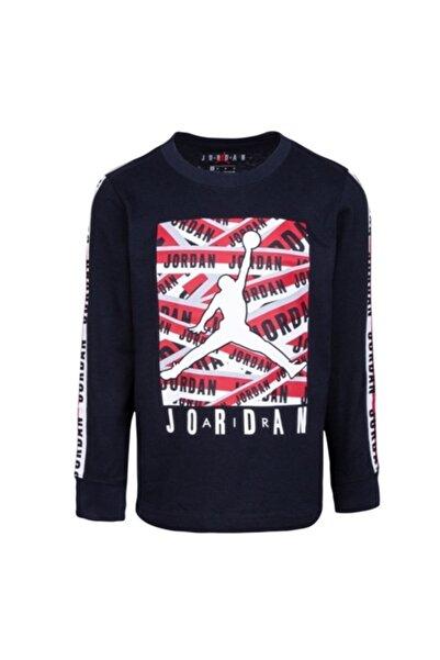 Nike Erkek Çocuk Gri Jordan Taped Up Ls  Ince Sweatshırt 95a074-023