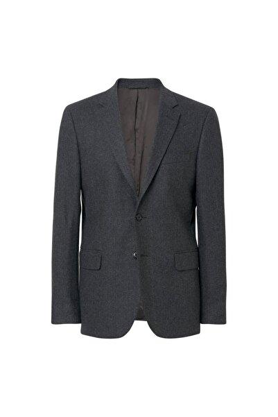 Gant Erkek Slim Fit Füme Herringbone Blazer Ceket 7536