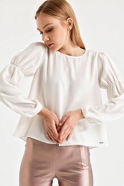 Armani Exchange Kadın Beyaz Bluz