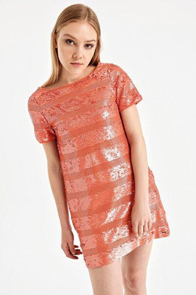 Armani Exchange Kadın Turuncu Elbise