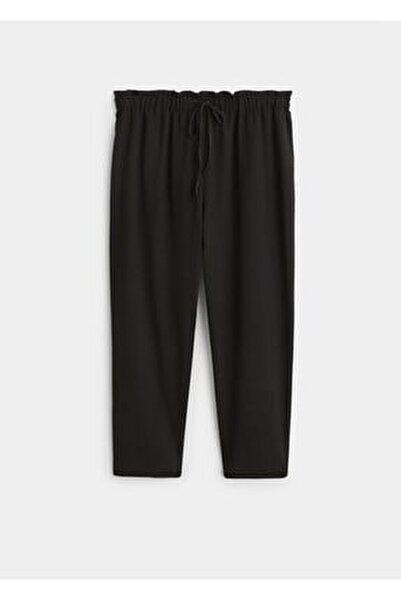 Kadın Siyah Beli Elastik Pantolon 61110630