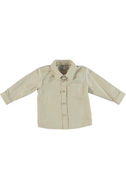 Monna Rosa Erkek Çocuk Bej Uzun Kollu Gömlek