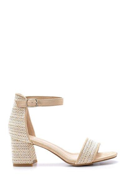 Derimod Kadın Hasır Görünümlü Topuklu Sandalet