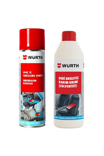 Würth Deri Besleyici Bakım Kremi +araç Içi Temizleme Spreyi 500ml